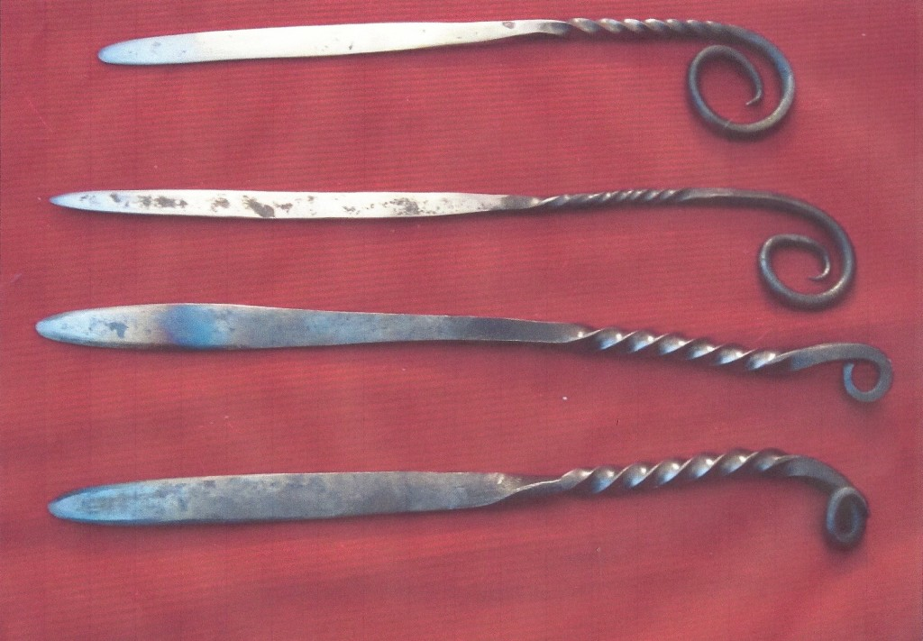 wrought iron letter openers