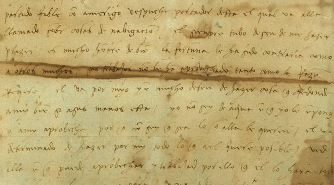 handwritten letter from Christopher Columbus to his son Diego