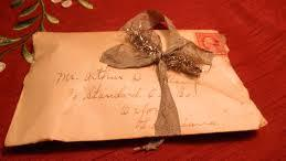 vintage letter with ribbon #2