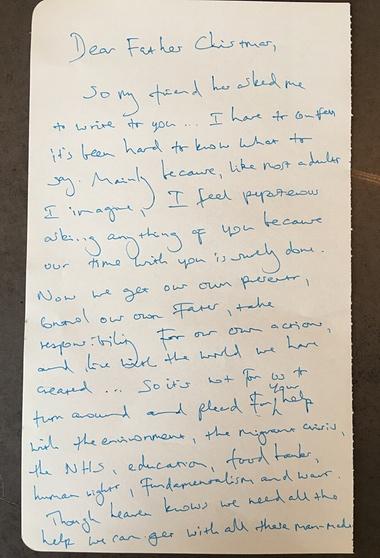 writing a heartfelt letter
