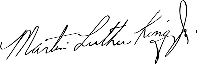 Martin Luther King Jr. signature