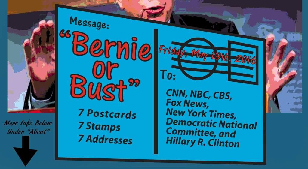 postcard blitz for Bernie