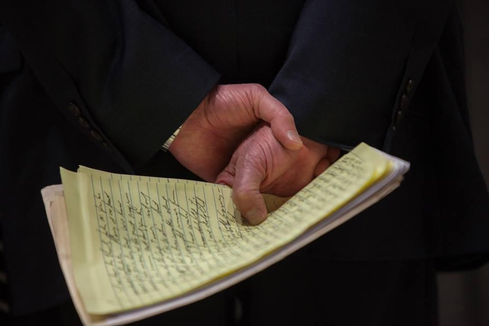 Bernie's handwriting
